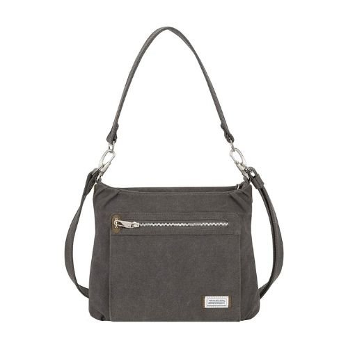 Travelon Anti-Theft Heritage Hobo Bag - Pewter colored