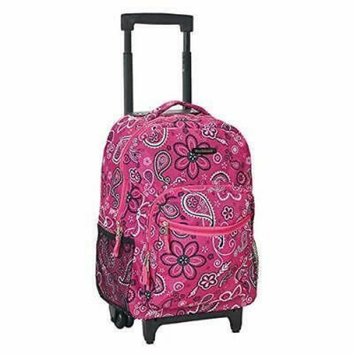 Rockland Double Handle Best Rolling Backpacks for School