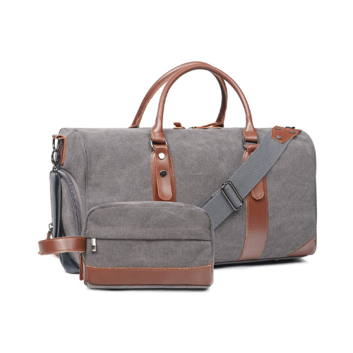 Oflamn Large Canvas Leather Weekender