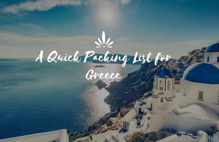 A Quick Packing List for Greece